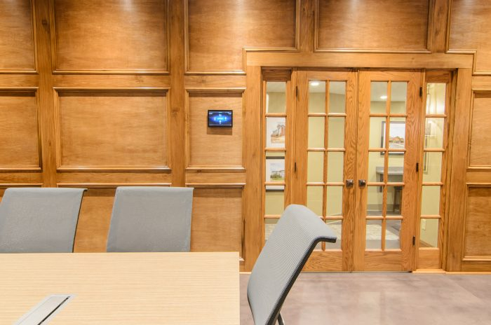 Corporate Boardroom with Touchscreen